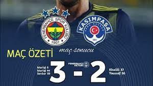 FB 3-2 Kasımpaşa MAÇ ÖZETİ Fenerbahçe'nin Golleri - YouTube