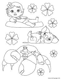 Free printable baby disney coloring page for kids of all ages. Moana Baby Disney Coloring Pages Printable