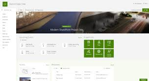 Sharepoint Website Examples Modern Sharepoint Modern Project Site Example My