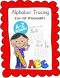 abc tracing sheet handwriting practice for preschool