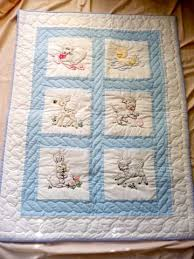565 best B is for Baby Quilts images on Pinterest | Quilt blocks ... & Amish Infant Quilt - Baby Animals! Just adorable, fully hand quilted and  embroidered. Adamdwight.com