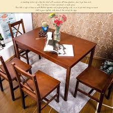 wooden dining room table and chairs 5 piece solid wood dining set large antique dining room table and chairs