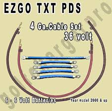 ezgo txt golf cart 36 volt 4 gauge heavy duty battery cable wiring ezgo txt pds golf cart 36 volt 4 gauge heavy duty battery cable wiring set