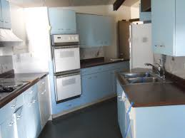 St Charles Metal Kitchen Cabinets St Charles Metal Cabinets Full Kitchen Blue White In Color