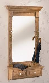 Mirror With Coat Rack Wall Mounted Coat Rack With Mirror Foter 55
