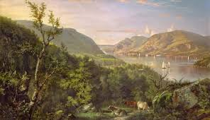 john ferguson weir 1841 1926 view of the highlands from west point 1862 oil on linen 20 x 34 in 50 8 x 86 4 cm courtesy of the new york historical