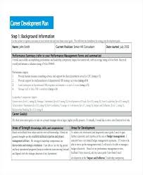 Development Plan Examples Samples Word Pages Human Resource Format