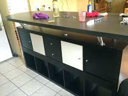Table Bar Cuisine Avec Rangement Bar De Separation Avec Rangement