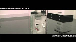 Kitchen Laminate Flooring Uk Elesgo Black High Gloss Laminate Floor Youtube