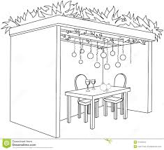 Small Picture Sukkah For Sukkot With Table Coloring Page Royalty Free Stock For