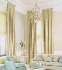 long window panels with extra long curtains