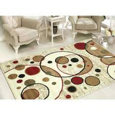 collection modern circles design beige 8 ft x area rug oval rugs 8x10 n