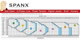 Spanx Higher Power Short Size Chart Spanx Super Higher Power