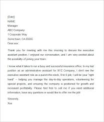 9 Sample Interview Thank You Letters In Word Sample Templates