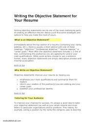 Sample Resume Objectives Statements Resume Resume Objective Statements Examples
