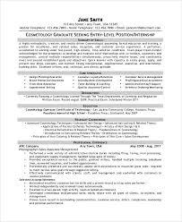 cosmetology-graduate-resume