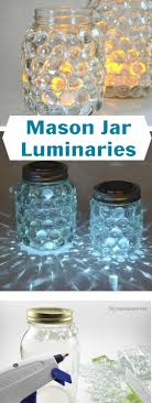 image of diy luminary mason jars