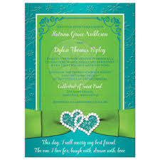 collage wedding invitations photo collage wedding invitation turquoise lime green floral