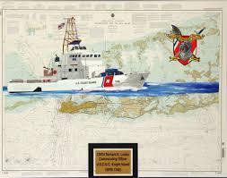 Coast Guard Chart Art Custom Painted Nautical Charts