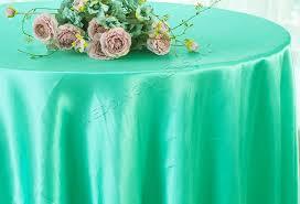 108 round satin tablecloths tiff blue aqua blue 55618 1pc pk
