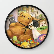children s ilration wall clock by