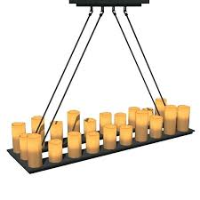 natural looking faux candles in diffe shapes a candle chandelier lighting pillar rectangular chandeliers