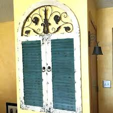 shutter wall decor window stunning idea arched metal iron gate decorating w