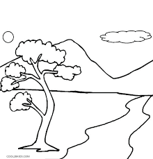 Coloring Pages Nature Coloring Pages Nature Nature Scene Coloring