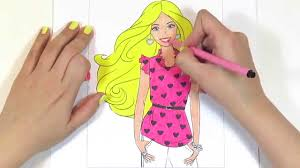 Small Picture Barbie coloring pages for kids