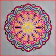Machine embroidered Mandala, medallion, quilt block, cushion panel ... & Machine embroidered Mandala, medallion, quilt block, cushion panel, pillow  panel, meditation Adamdwight.com