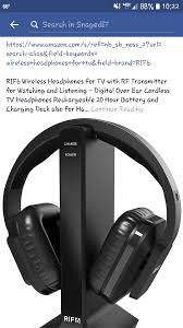 tv ears amazon. wireless headphones for tv with rf transmitter watching and listening - digital over ear cordless rechargeable 20 hour battery tv ears amazon
