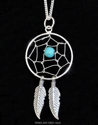 Dream Catcher With Crystals Dreamcatcher Pendant Turquoise Crystal Bead Sterling Silver Native 100