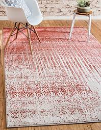 over dyed modern vintage rugs red 7 x 10 ft palma collection area rug perfect for any place