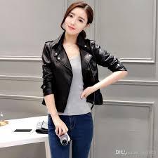 autumn leather clothing female short leather coats slim fashion women s leather motorcycle jacket new zipper pu jacket for women free s