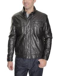 kenneth cole reaction mens solid brown faux leather motorcycle jacket coat hover to zoom