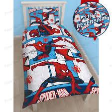 peaceful design avengers double bedding marvel spiderman duvet cover sets kids boys junior single and curtains