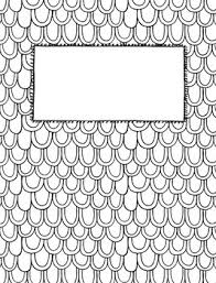 Coloring Page Binder Cover Editable Coloring Page Binder Covers By Musings From The Middle School