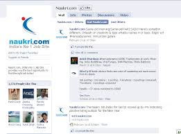 Many indian companies are using FB for branding activities.On this context  I was checking Naukri.com's facebook page.