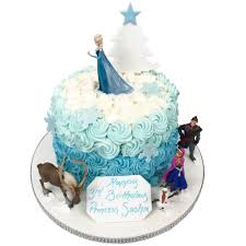 Frozen Ombre Cake Birthday Cakes The Cake Store