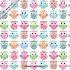 Owl Pattern Custom Cute Owls Pattern Vector Free Download
