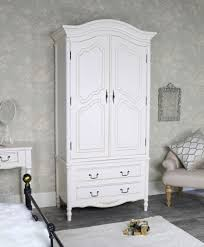Amelie white wash shabby chic country Lighting Ff616794f5f11526918147largeantiquecreamarmoirestyledoublewardrobe Belle Escape Shabby Chic Wall Mirrors Melody Maison