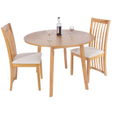 hamilton ash round drop leaf table with four solid wood legs and seats 4