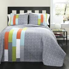 striped twin quilt lush decor orange blue stripe quilt set navy and white striped twin quilt