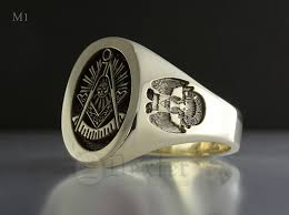 york rite rings. masonic ring with 32nd degree rite shoulder (m1 elevated engraved) york rings b