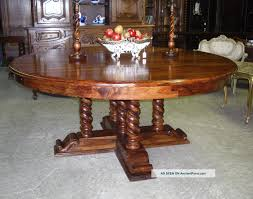antique style country french barley twist 72 round golden oak dining table