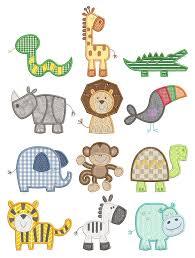 Animal Applique Designs Simple Jungle Applique Simple Embroidery Designs Machine
