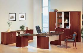 Wooden office desks Corner Furniture Best Red Cherry Executive Wooden Office Furniture Set Featuring Black Leather Sofa And Chair Furniture Best Red Cherry Executive Wooden Office Furniture Set