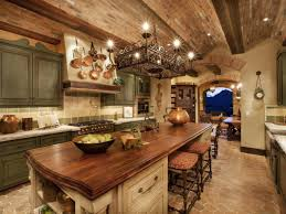 Breathtaking Spacious Tuscan Style For Kitchen Scheme Offering - Huge kitchens