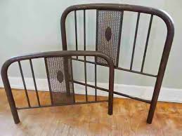 simmons metal furniture. antique simmons iron bed frame headboard footboard rails twin metal furniture y