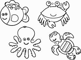 Free Printable Animal Coloring Pages Unique Ocean Animals Coloring